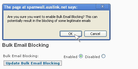 SpamWall Content Filtering Bulk Email Blocking