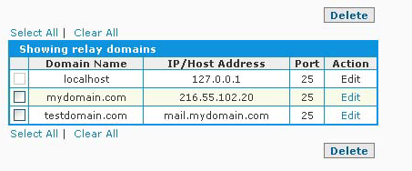 SpamWall IP Domain Added