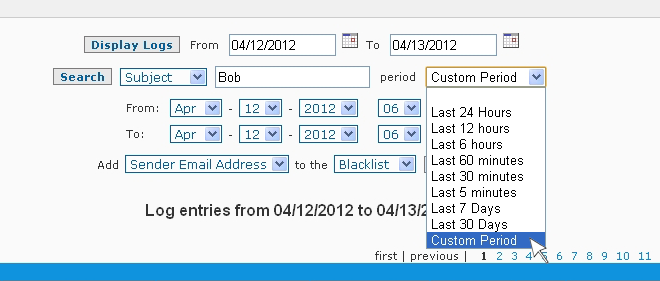 SpamWall Mail Log Viewer Search 2
